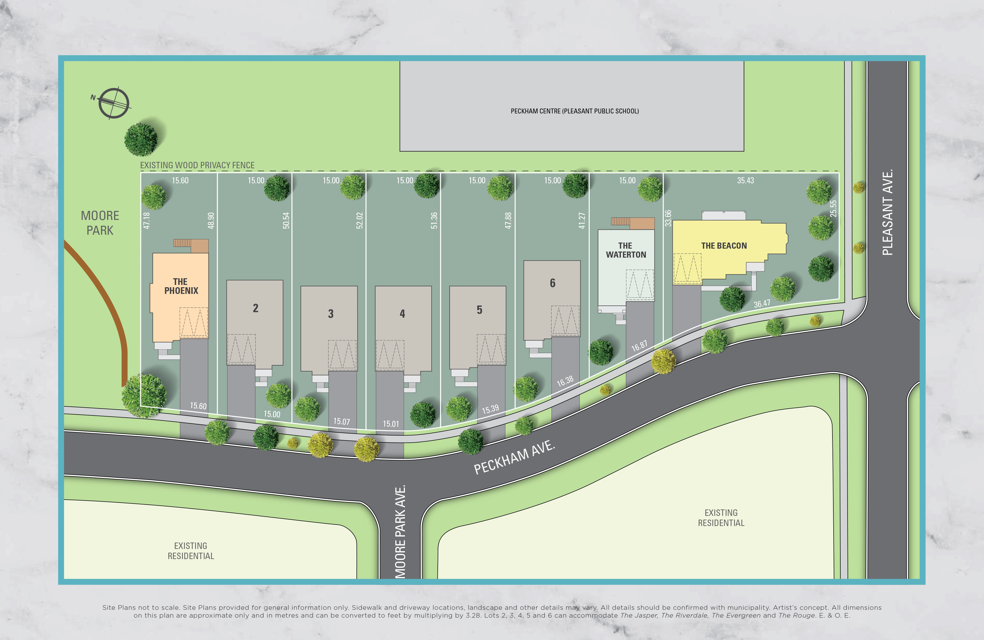 Moore Park Place Siteplan in North York