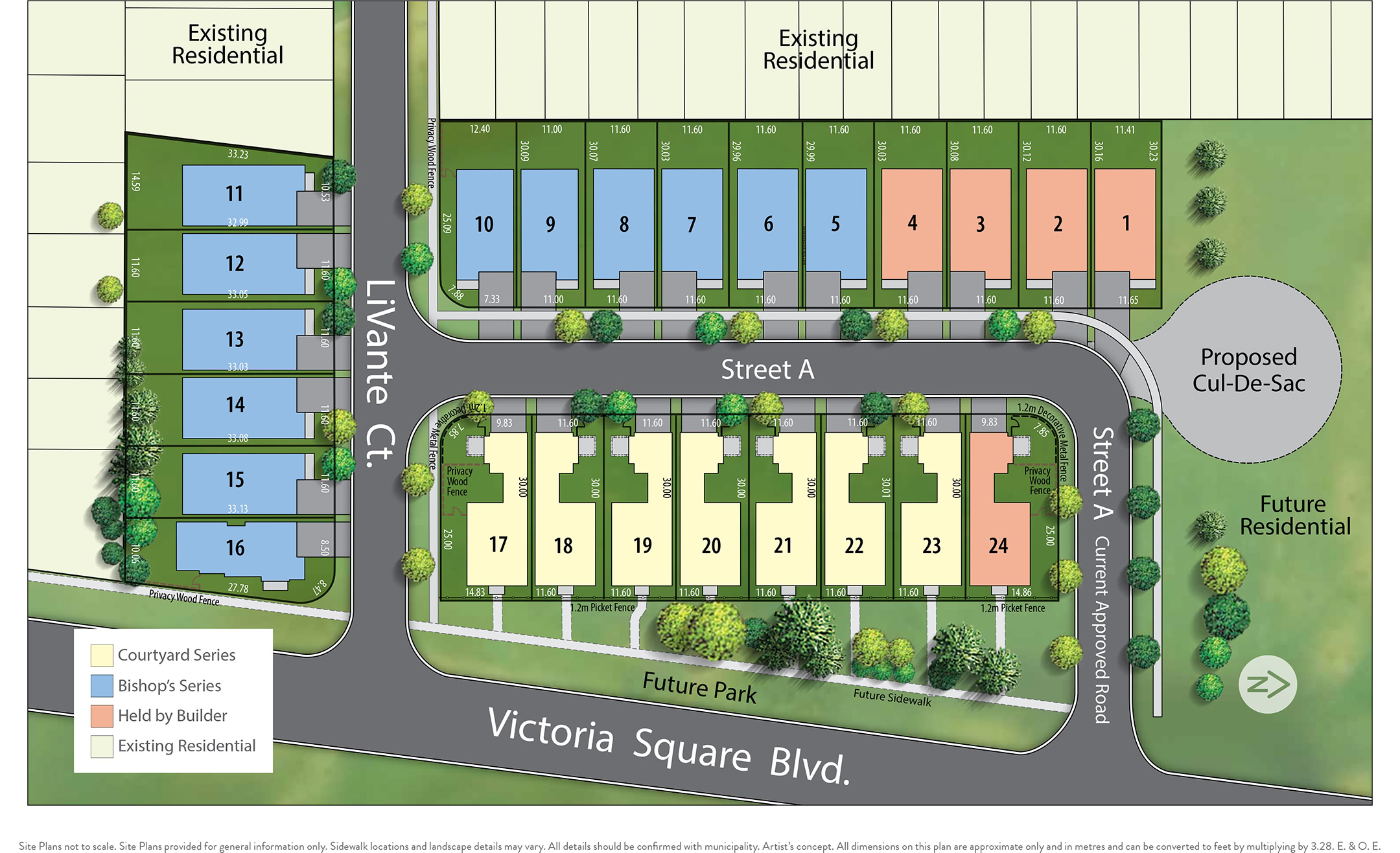 The Estates of Bishop's Gate Siteplan in Markham